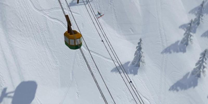 В бете отличной Grand Mountain Adventure появился сноуборд