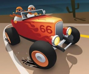 Авторы Silly Walks выпустили интересную гонку Great Race - Route 66 на iOS